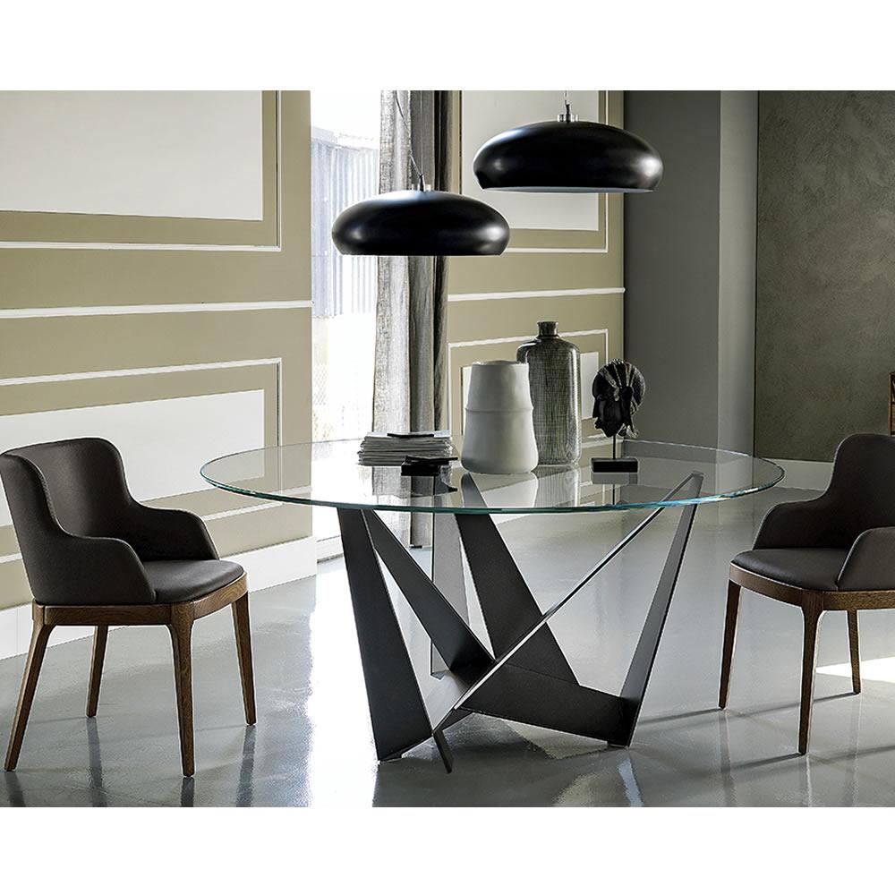Cattelan Italia Skorpio Round Dining Table Abitare Uk - The-cattelan-italias-spiral-was-designed-by-ca-nova-design