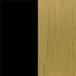 Oak Lacquer with Top in Black Nano Laminate