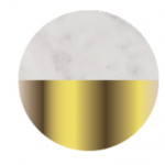 Brushed Brass/White Marble