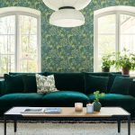 Colorado Interior 4seater Lario 1402 Dark Green Space Coffee Table 150x50 H38 Oak Top Black Leg 3