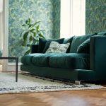 Colorado Interior 4seater Lario 1402 Dark Green Space Coffee Table 150x50 H38 Oak Top Black Leg 5
