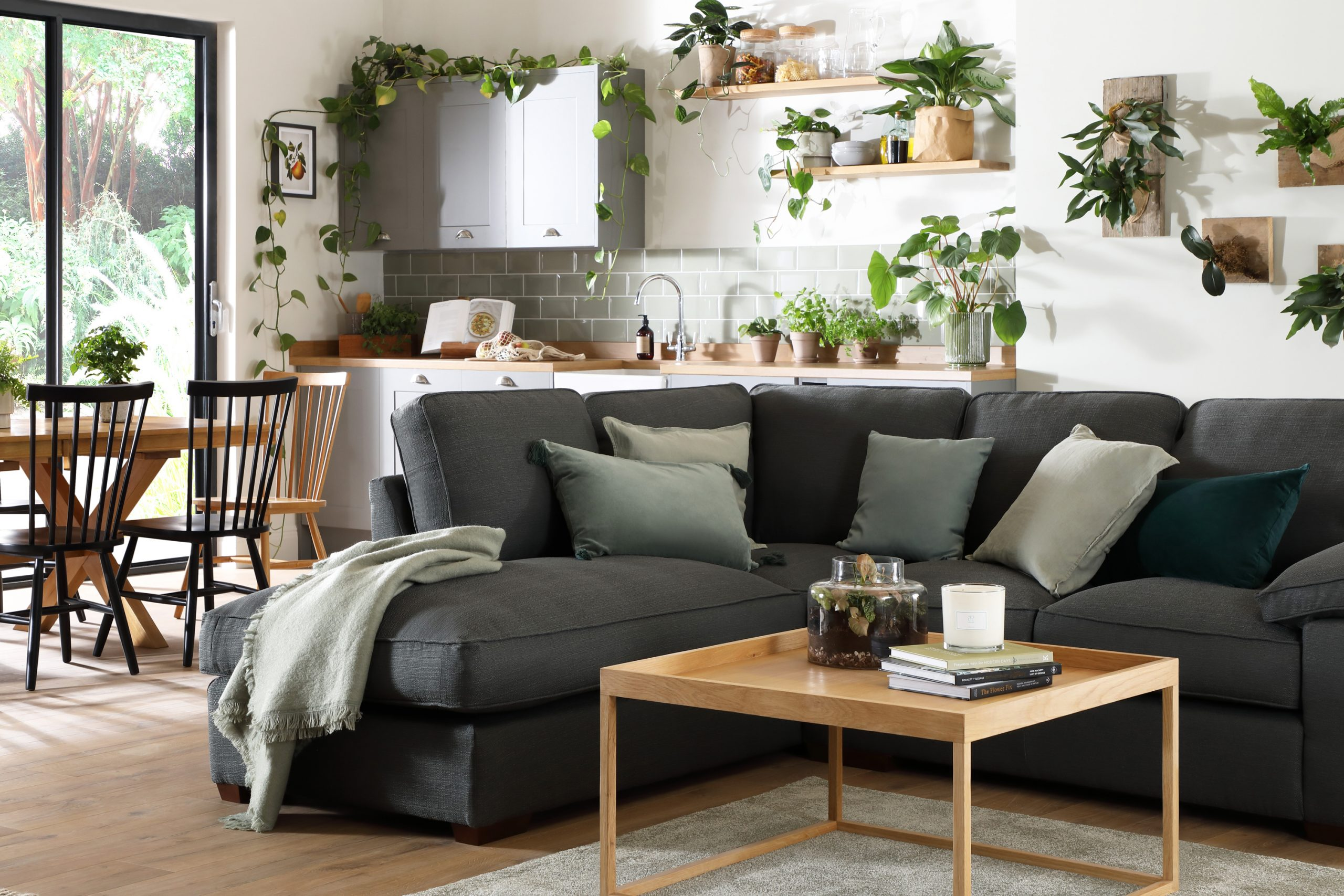 Fc Cassie Charcoal Corner Sofa
