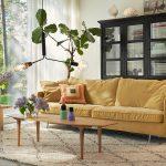 Julia Interior 3xlseater Malibu Velvet 10 Yellow Casual Coffee Table 150x50 Oak 3