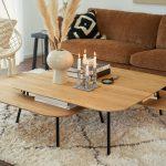 Teddy Interior 4seater Atropa 7 Camel Tetris Coffee Table 4 110x110 H38 1b 110x80 H30 3b 100x50 H22 Oak Top Black Leg 5