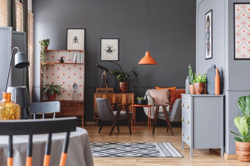 grey-and-orange-living-room