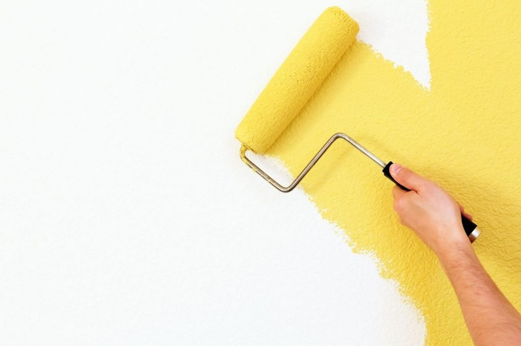 Yellow paint roller