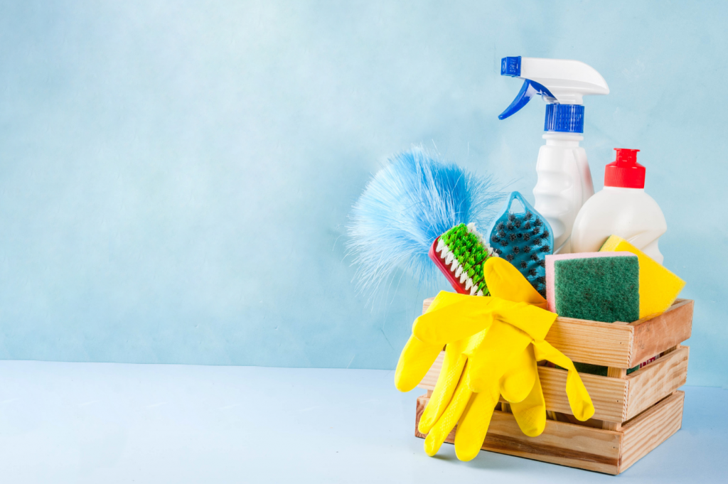 spring-clean-basket-of-cleaning-supplies
